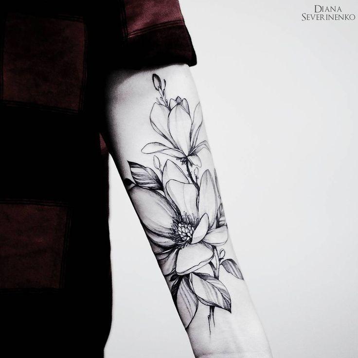 Les 25 meilleures id es de la cat gorie tatouage magnolia - Tatouage pensee fleur ...