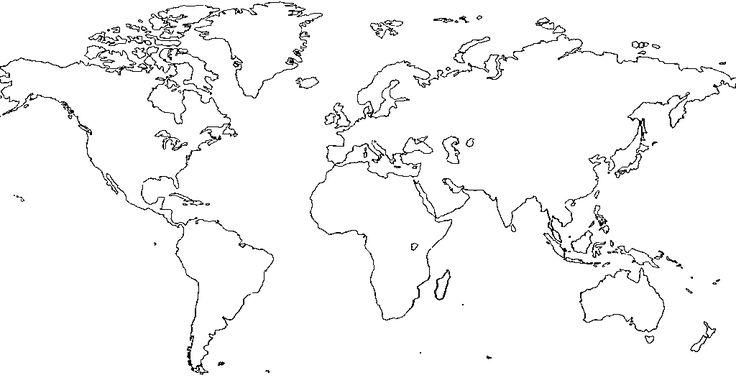 Blank World Map - Cerca con Google GeoMarketing Pinterest - fresh world map quiz practice