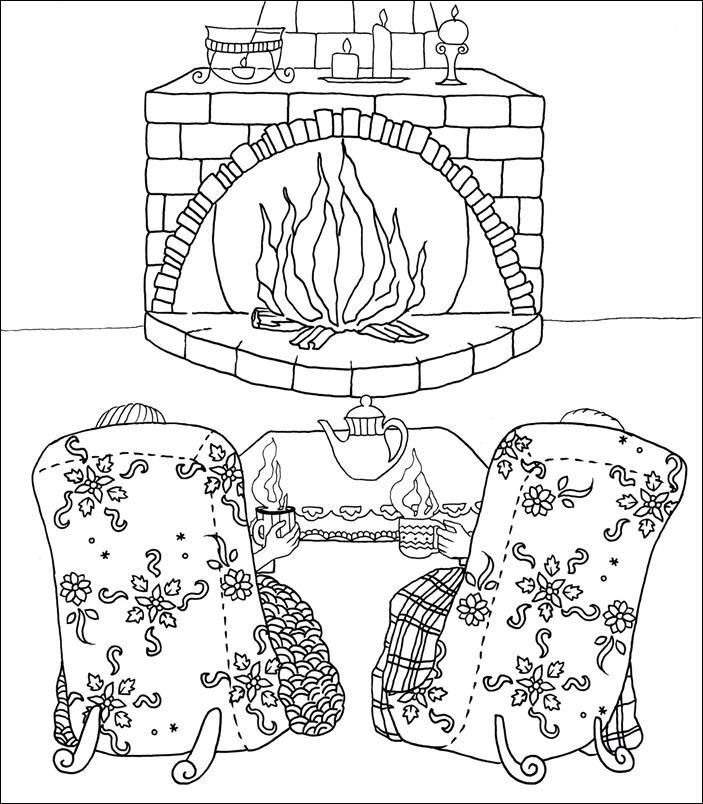 ADULT COLORING BOOK 30 Winter Chill Coloring Pages Books For Adults Series By