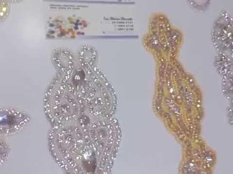 Nuevas Aplicaciones LUXOR para vestidos de Novia, y de Noche,... Auténtico Cristal - YouTube