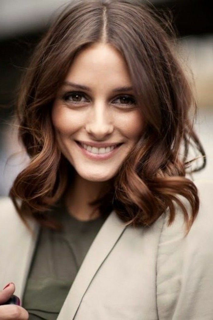 Cheveux marron glace photo