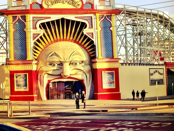 Luna Park (St. Kilda) at Dusk