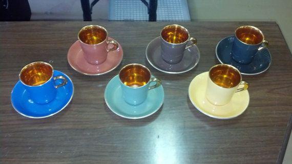 Espresso Demitasse Cups | FIGGJO FLINT Norway demitasse espresso tea cup & saucer (6 colors)
