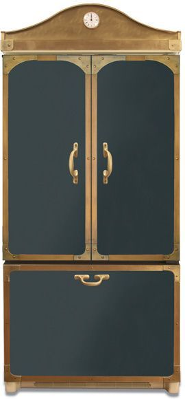 Steampunk Refrigerator! This company refits modern appliances to match antique styles. WOW. (Hit the link to see the stoves.)