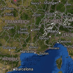 Radar de lluvia en Francia