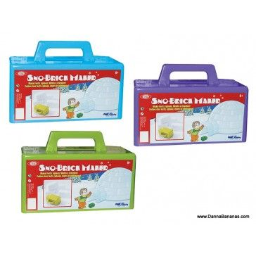 Easily build snow forts and sand castles. Sno Much Fun!  http://www.dannabananas.com/sno-brick-maker/