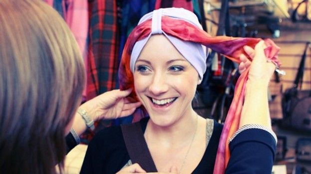 microencapsulation in head scarves for cancer patients