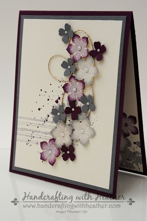 """By Heather Van Looy, designed by Sam Donald. Uses """"Gorgeous Grunge"""" and """"Petite Petals"""" stamp sets (Stampin' Up) -- but I could use Heartfelt Creations stamps and dies instead. See Sam Donald's instructional video on https://www.youtube.com/watch?v=_9vuq_JwkGclist=UUsFTjlTbVlnw5WJmowPDytg"""