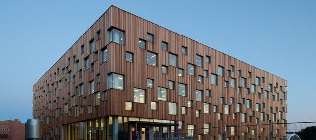 Umeå School, Umeå RiverUmeå School of Architecture is located near to the Umeå River and was designed by Henning Larsen Architects.The main function of the building is to ... Architecture Check more at http://rusticnordic.com/umea-school-umea-river/