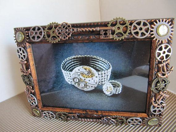 Frame Steampunk Picture Frame Industrial Frame by LuckySteamPunk