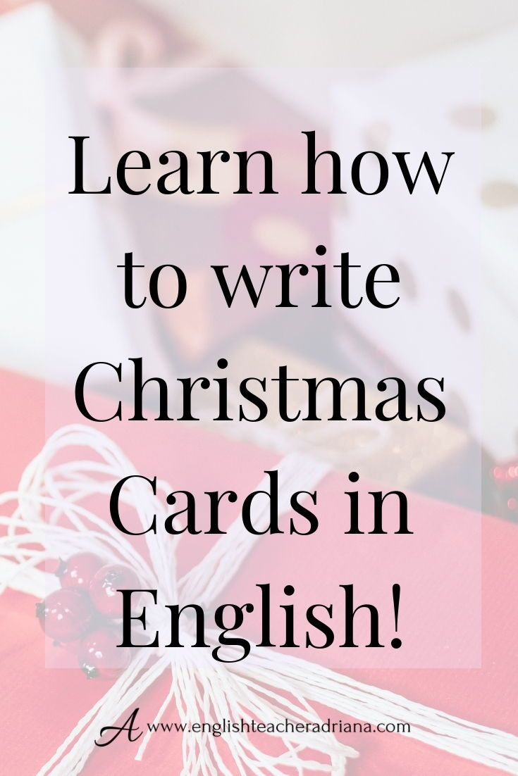 How To Write A Christmas Card Writing Christmas Cards Learning