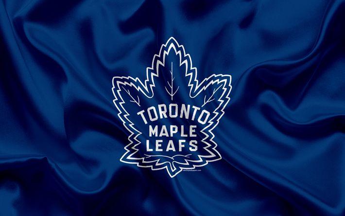 Descargar fondos de pantalla Hojas de Arce de Toronto, del club de hockey, NHL, emblema, logo, Liga Nacional de Hockey, hockey, Toronto, Ontario, Canadá, de la Conferencia este, la División del Atlántico