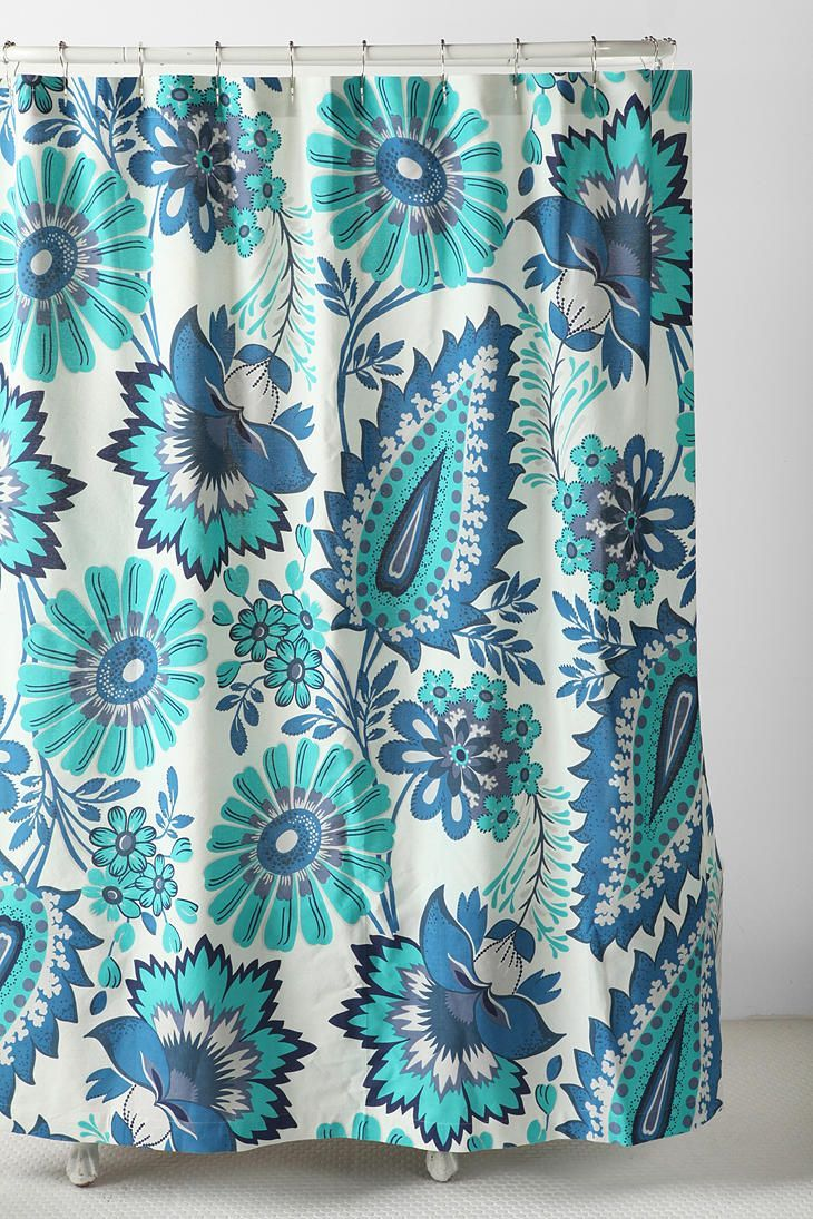 Tropical Paisley Shower Curtain Urban Outfitters Curtains