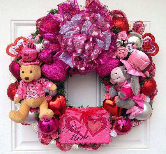 Pooh and Eeyore Valentine Disney Wreath