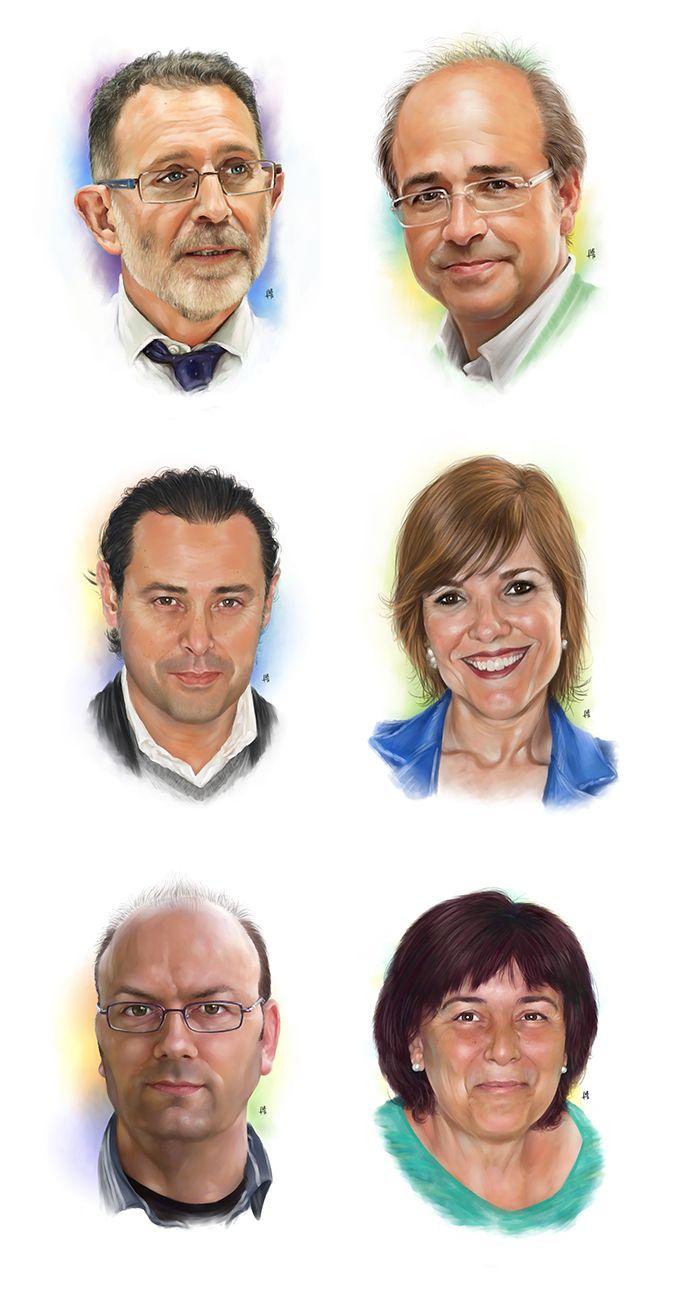 Retratos Políticos IV - EPDV - Arte Digital por Fran Moreno