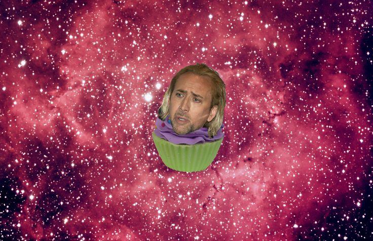 nicolas cage space cupcake - Google Search | Spacey Cagecake ...