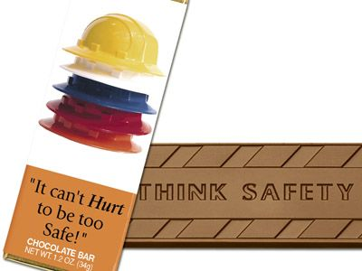 It can't hurt to be too safe! - Chocolate Wrapper Bar