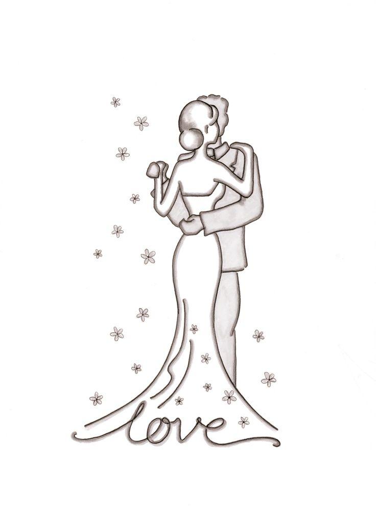 Как нарисовать открытку на день свадьбы своими руками
