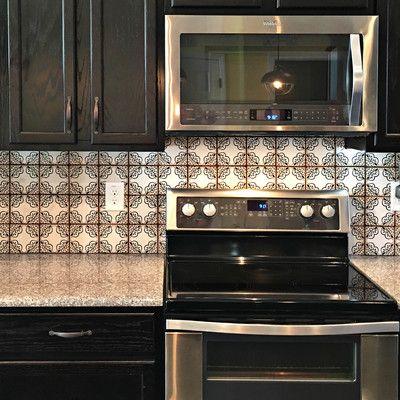 """EliteTile Arquivo 4.88"""" x 4.88"""" Ceramic Field Tile in Ornate"""