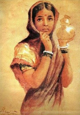 Kala Sagar: Artist- Verma (Raja Ravi)- 'The Milkmaid'