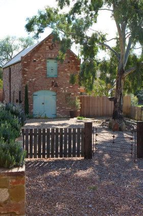 This barn near Castlemaine,Victoria, is only three years old, but is given its aged look from reclaimed materials and a traditional design