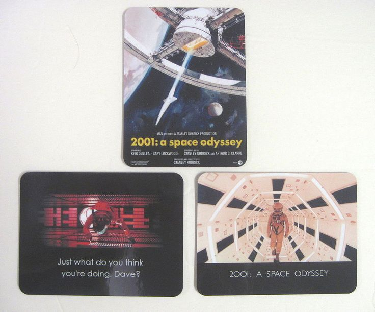 2001: A Space Odyssey Magnet Set of 3 Stanley Kubrick 2001 Magnets HAL Dave Rare