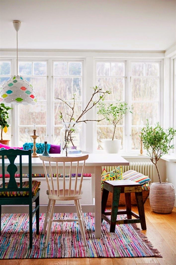 Mes Coups De Coeur La Semaine 68 Colorful Dining RoomsEclectic ChairsMismatched