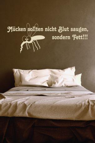 Wandtattoo #Mücken sollten nicht #Blut saugen, sondern #Fett !!!