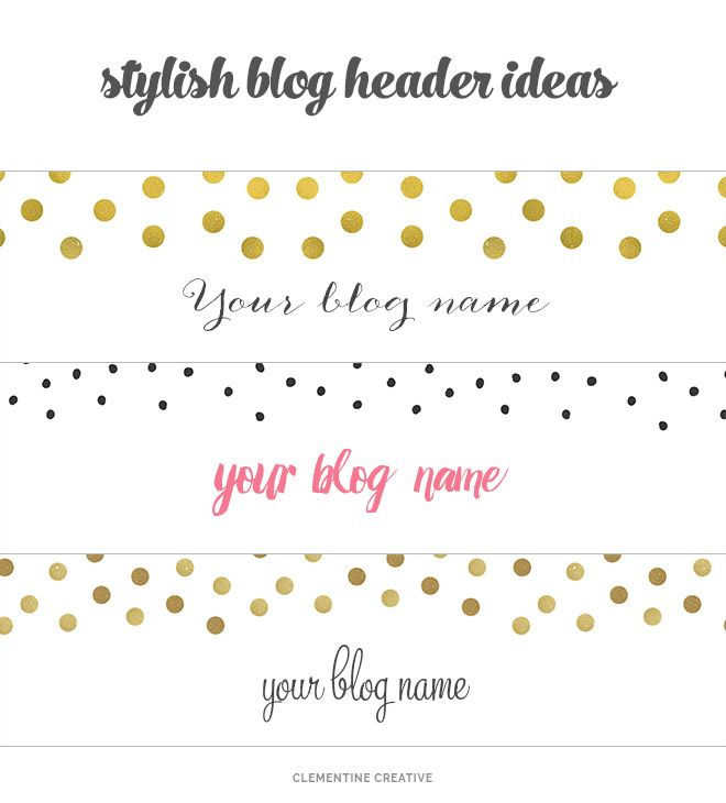 Free Creative Blog Headers To Download