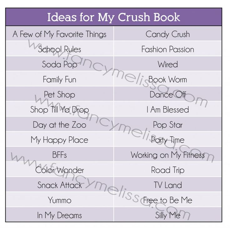 List of Smash Book Ideas   My Crush books from Close to My Heart www.fancymelissa.com #ctmh # ...