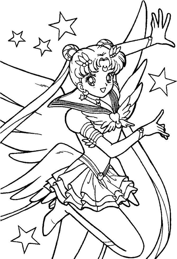 Sailor Moon Is Confused With His Own Dance Coloring Pages