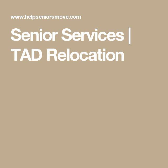 Senior Services | TAD Relocation