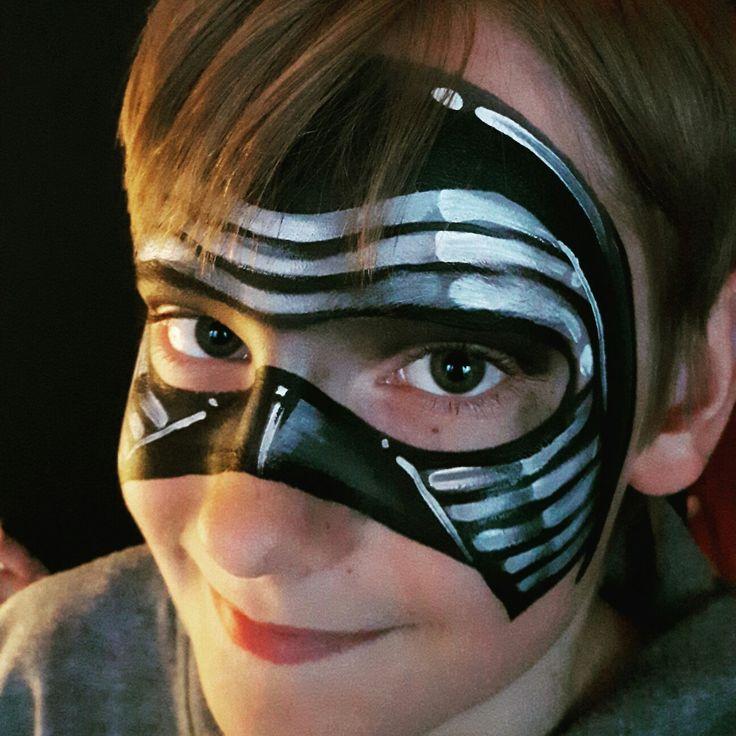 Kylo Ren mask Face paint