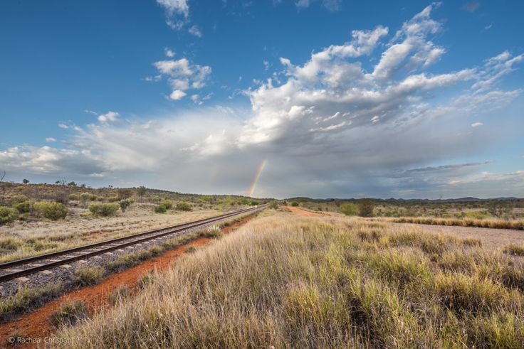 Photo Of The Week: Rainbows Over Ghan Railway by Racheal Christian