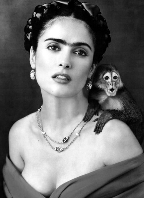 Salma Hayek as Frida Kahlo for the movie 'Frida', 2002. *one of my favorite movies of all time*