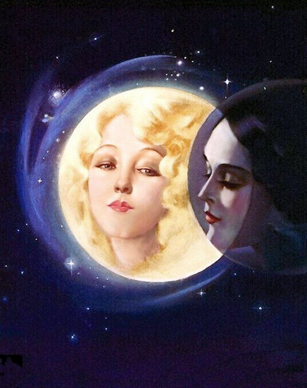 """Moonlight Eclipse"" by Alberto Vargas 1932"