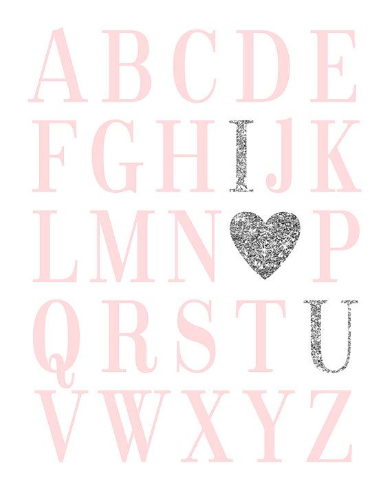 Buy 1 Get 1 Free ABC Print Digital Nursery by EllenPrintable
