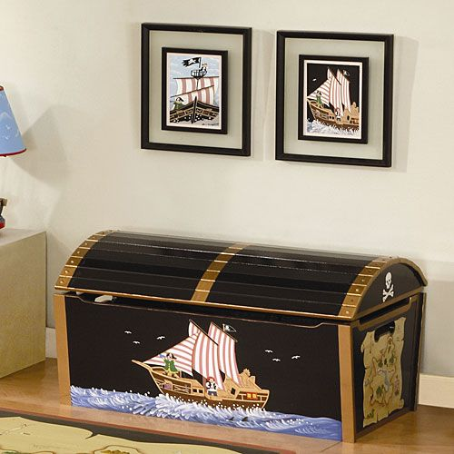 Awesome toy chest for Nicholas.  Would look great with the pirate bed set I'm getting from a friend of mine.