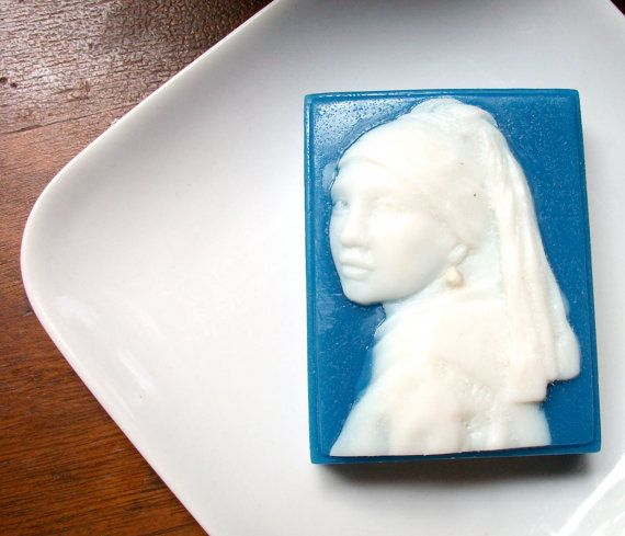 ARTISTIC SOAP For the Art Lover Girl with a by thecharmingfrog, $7.00