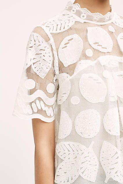 Lily Lace Blouse, White - Anthropologie - £108.00