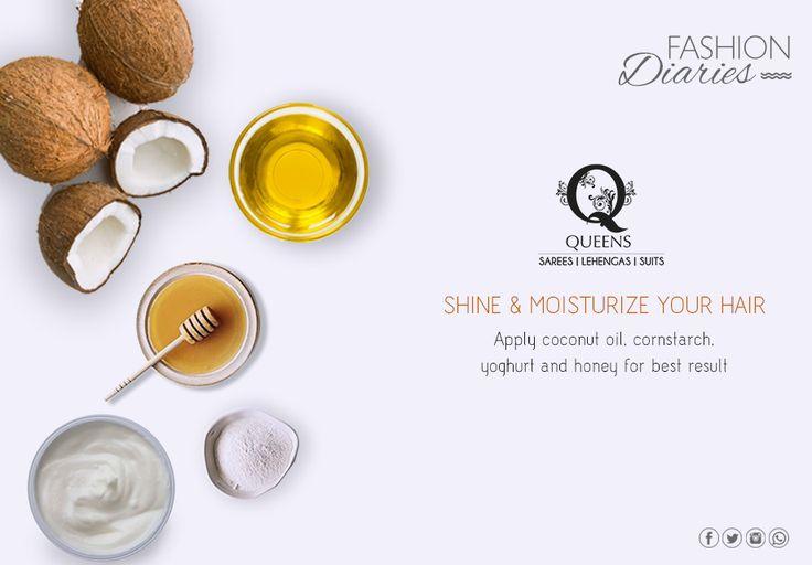 Get shiny, lustrous hair with this secret tip. #QueensEmporium #Beautytip #fashionDiaries