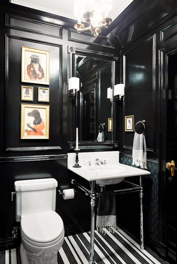 Dark and Lovely. A small space can actually benefit from a moody hue by playing up the cozy factor. Photo: Robert Stuart Interiors