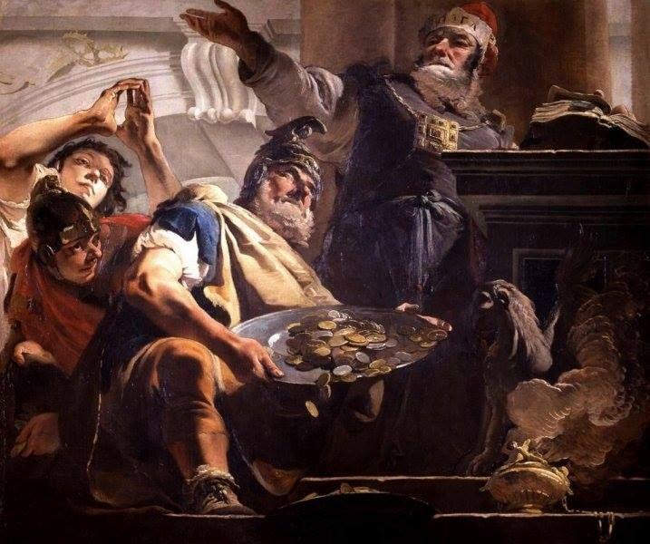 Un'opera di Giambattista Tiepolo conservata al Museo di Castelvecchio di Verona: Eliodoro saccheggia il tempio