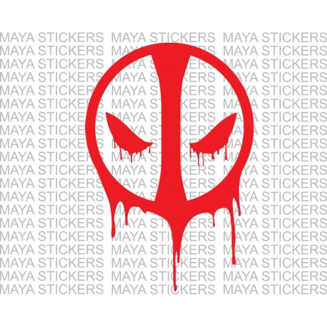 Deadpool Vinyl Decal Sticker For Car Bikes And Laptop - Custom vinyl decals for laptop