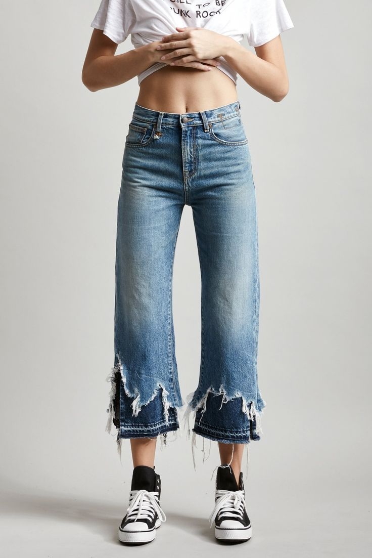 High Rise Camille with DBL Shredded Hems