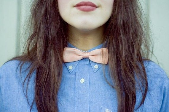 Vtg Bright Pastel Womens Bowties