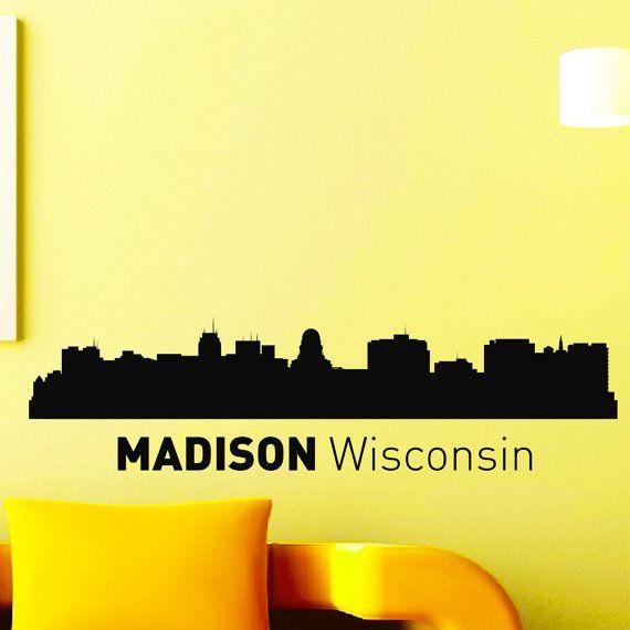 Best City Silhouette Images On Pinterest Vinyl Decals Color - Custom vinyl decals madison wi