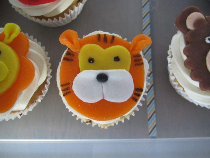 Animal cupcakes tiger / Dierencupcakes tijger // VAN BRITT