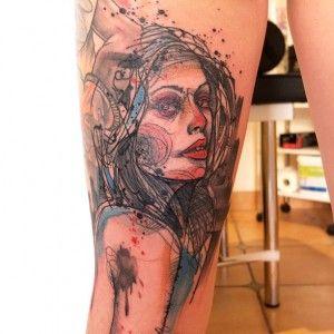 Schwein, tattoo artist