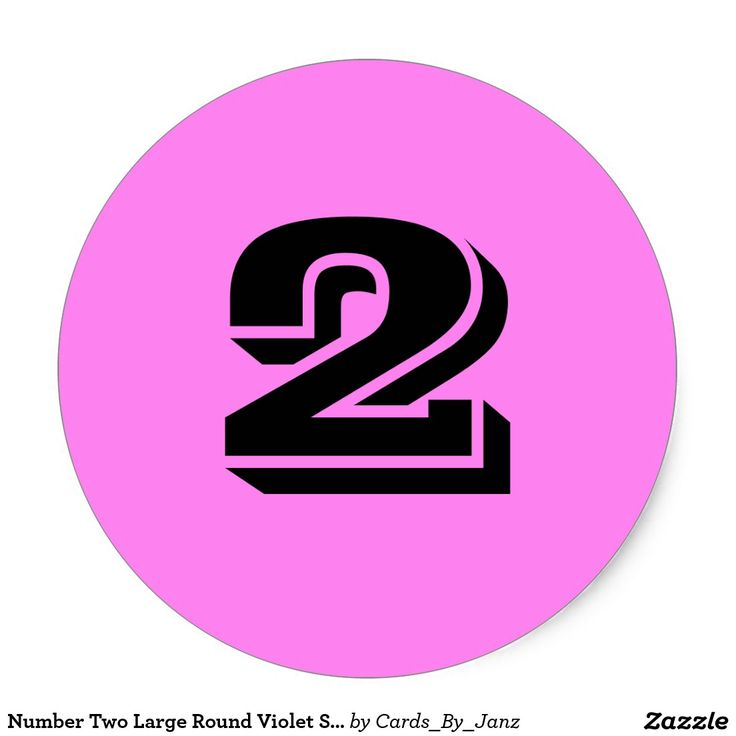 Number two large round violet stickers by janz
